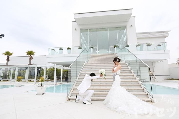 結婚式に前撮りの画像