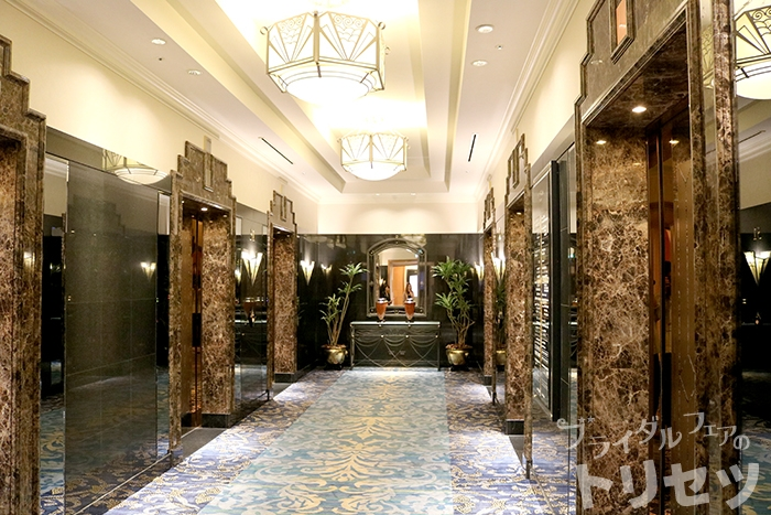 名古屋マリオットアソシアホテルのエレベーターの画像