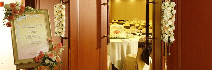 結婚式受付の画像