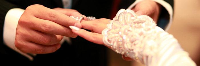 指輪交換の画像