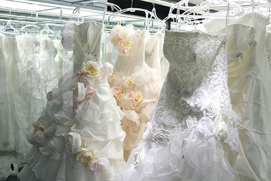 ウエディングドレスの写真