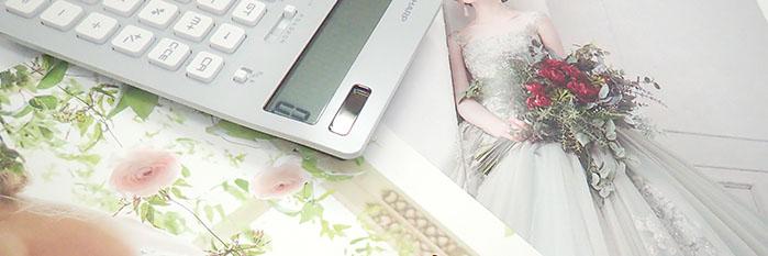 電卓とドレスのカタログ