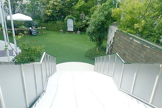 階段から見たガーデン