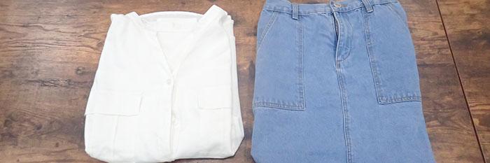 シャツとスカート