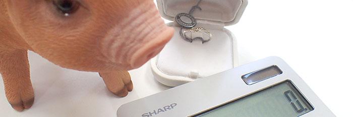 電卓と結婚指輪