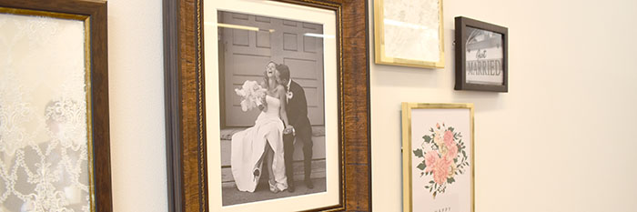 結婚式場の飾り