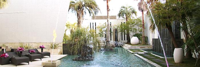 リゾートホテルの噴水