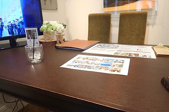 結婚式場の待合室
